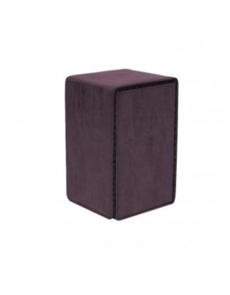 Ultra Pro Suede Collection Alcove Tower Deck Box Amethyst