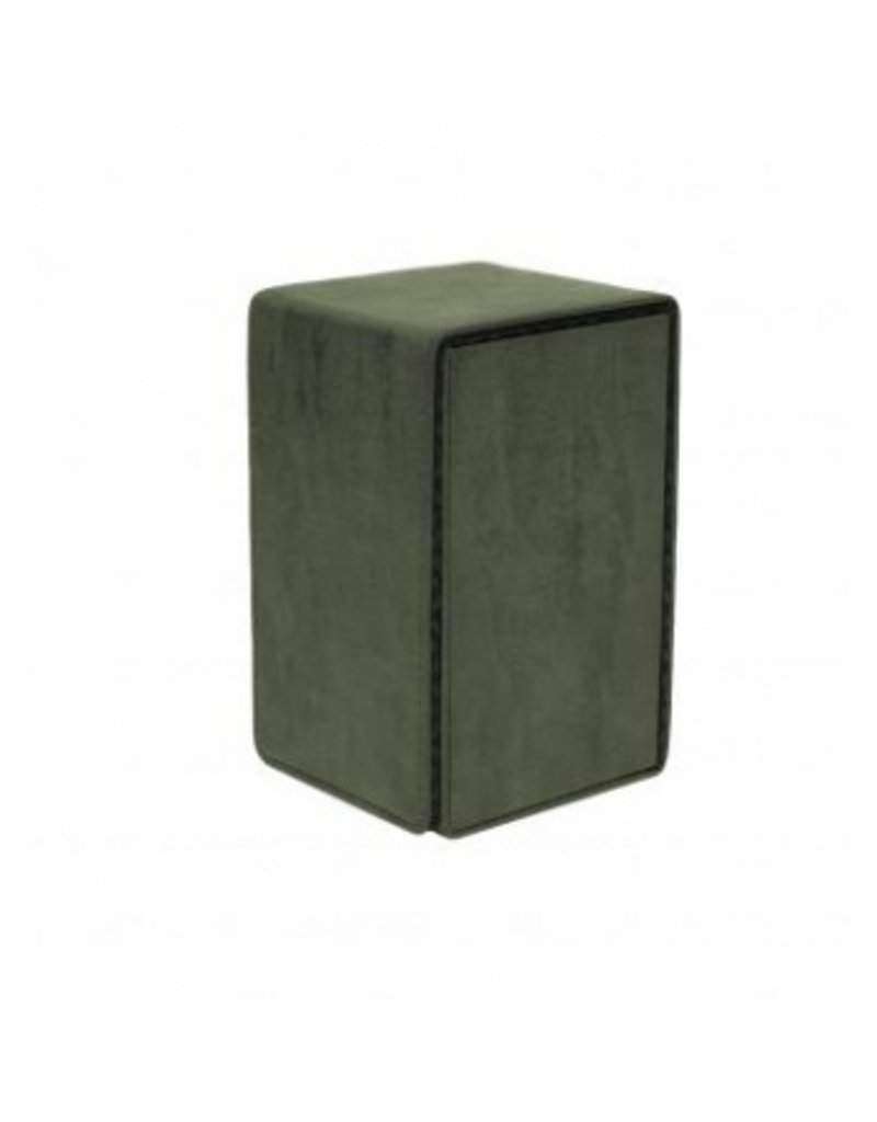 Ultra Pro Alcove Tower Deck Box Suede Collection - Emerald Ultra Pro