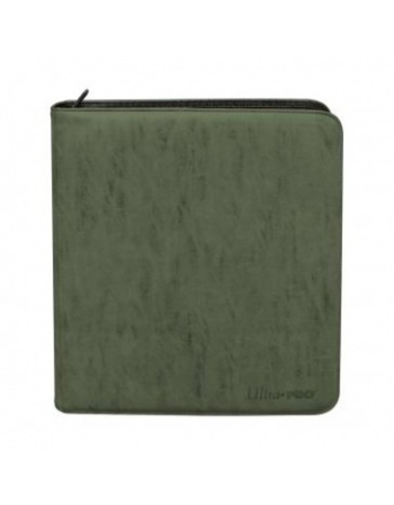 Ultra Pro Deck Builder's Playset Zippered Pro Binder Suede Collection - Emerald Ultra Pro