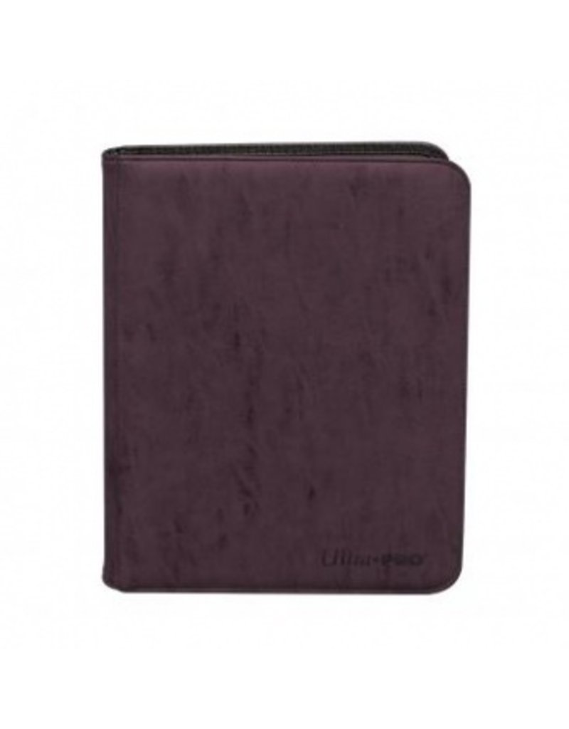 Ultra Pro 9-Pocket Zippered Premium Pro Binder Suede Collection - Amethyst Ultra Pro