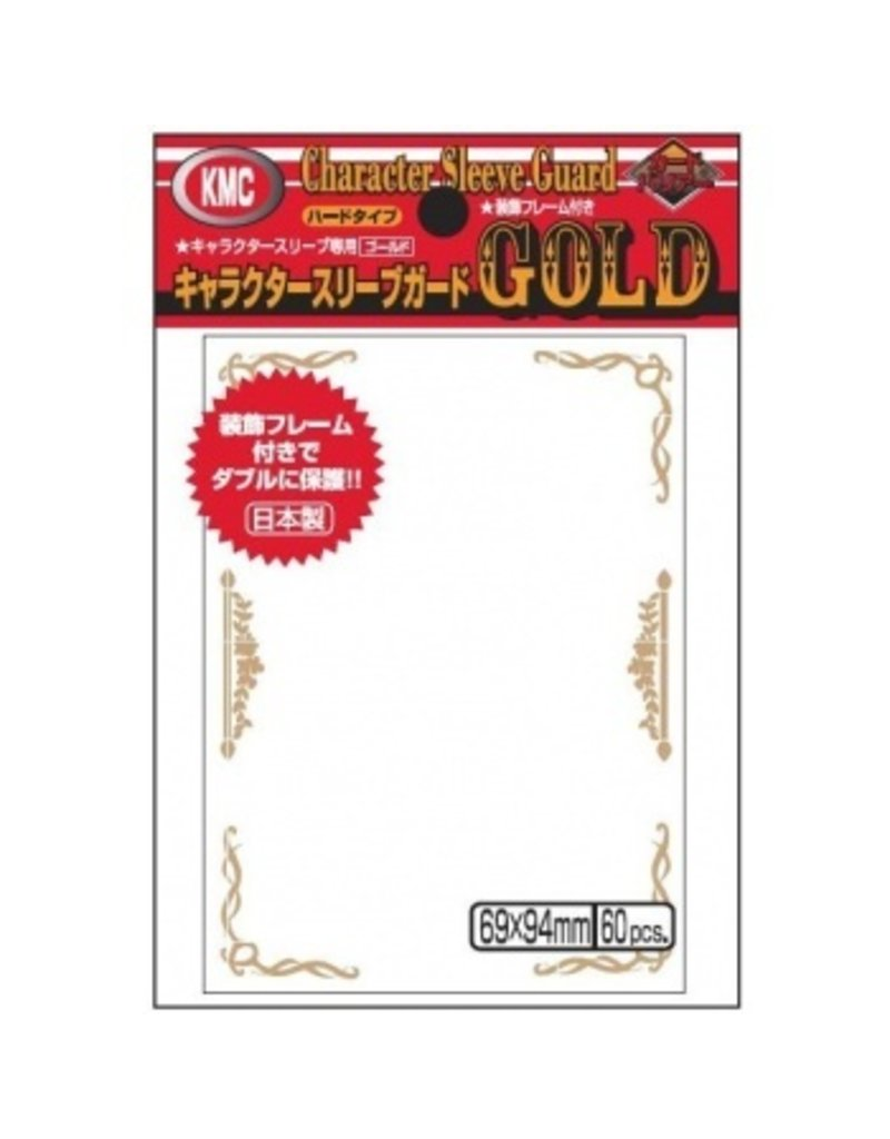 KMC KMC Sleeves Standard Oversized Character Guard Gold With Florals