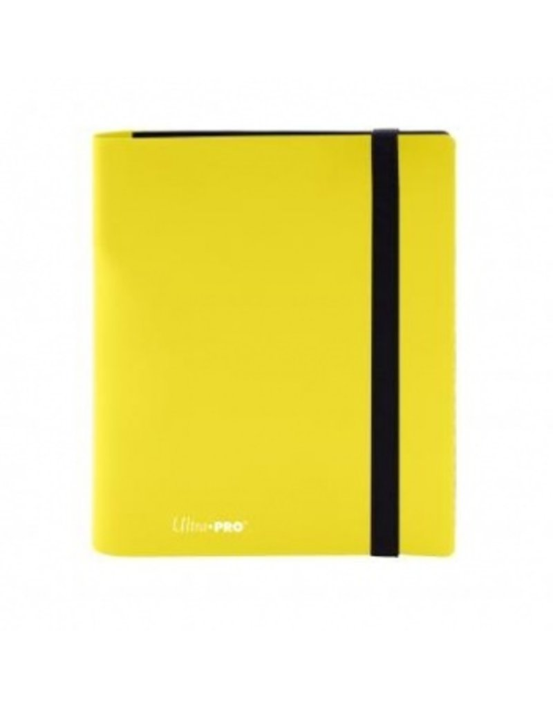 Ultra Pro 4-Pocket Pro Binder Eclipse Lemon Yellow