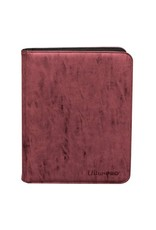 Ultra Pro Suede Collection Zippered 9-Pocket Premium Pro Binder Ruby Ultra Pro