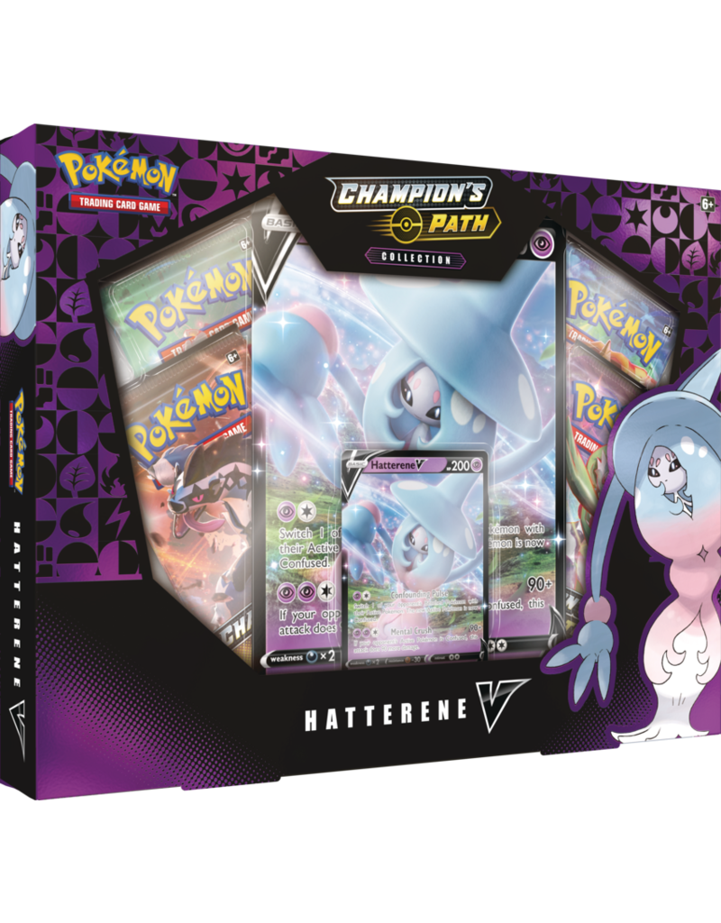 The Pokémon Company Pokemon Sword and Shield 3.5 Champions Path - Hatterene V Box