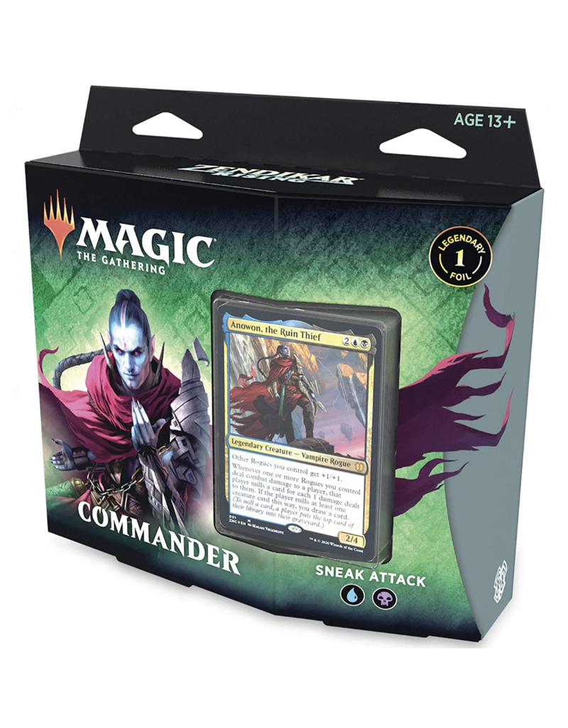 Magic The Gathering Zendikar Rising Sneak Attack Commander Deck MTG