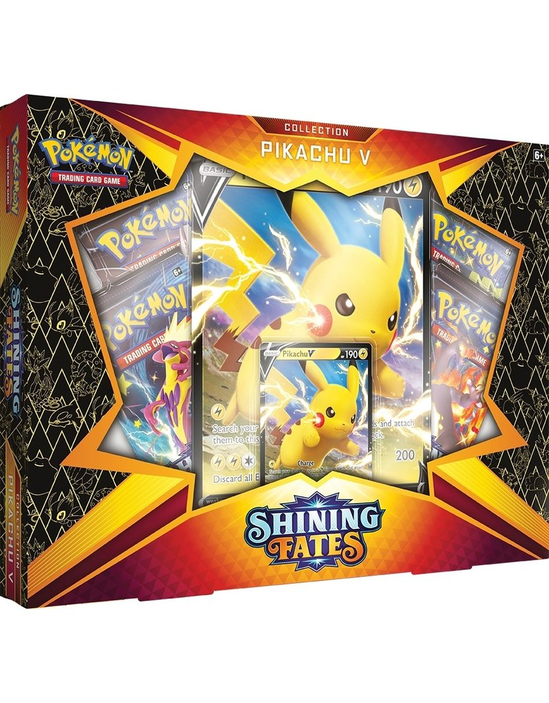 The Pokémon Company Pokemon Sword & Shield 4.5 Shining Fates Pikachu  V Box (February V)