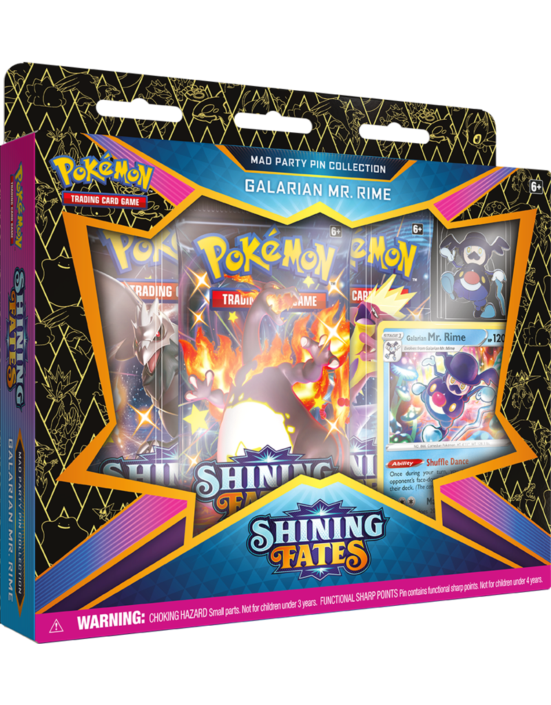 The Pokémon Company Pokemon Sword & Shield 4.5 Shining Fates Mad Party Pin Collection Galarian Mr. Rime