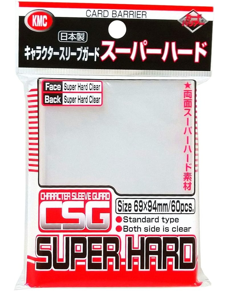 KMC KMC Character Standard Sleeve Covers Super Hard Clear