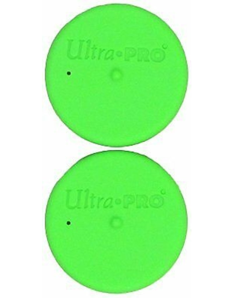 Ultra Pro Tube Caps Bright Green Ultra Pro
