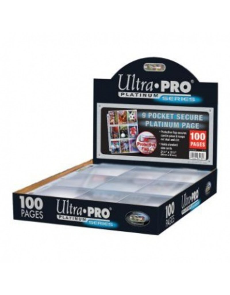 Ultra Pro Secure Platinum - 9-Pocket Pages (3 Hole) Display Ultra Pro