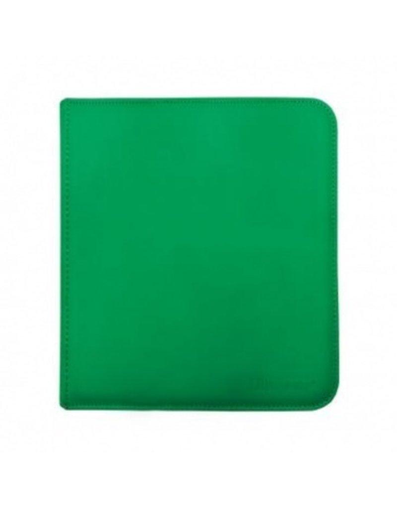 Ultra Pro 12-Pocket Zippered Pro-Binder - Green - Ultra Pro
