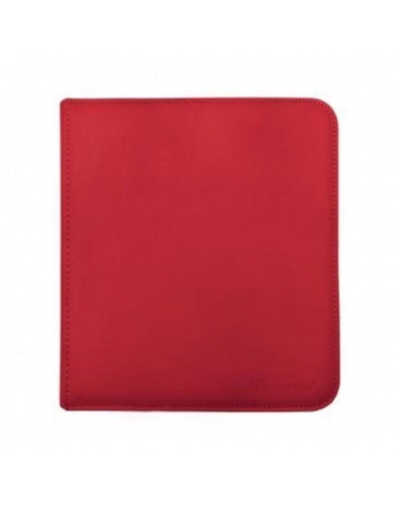Ultra Pro 12-Pocket Zippered Pro-Binder - Red - Ultra Pro