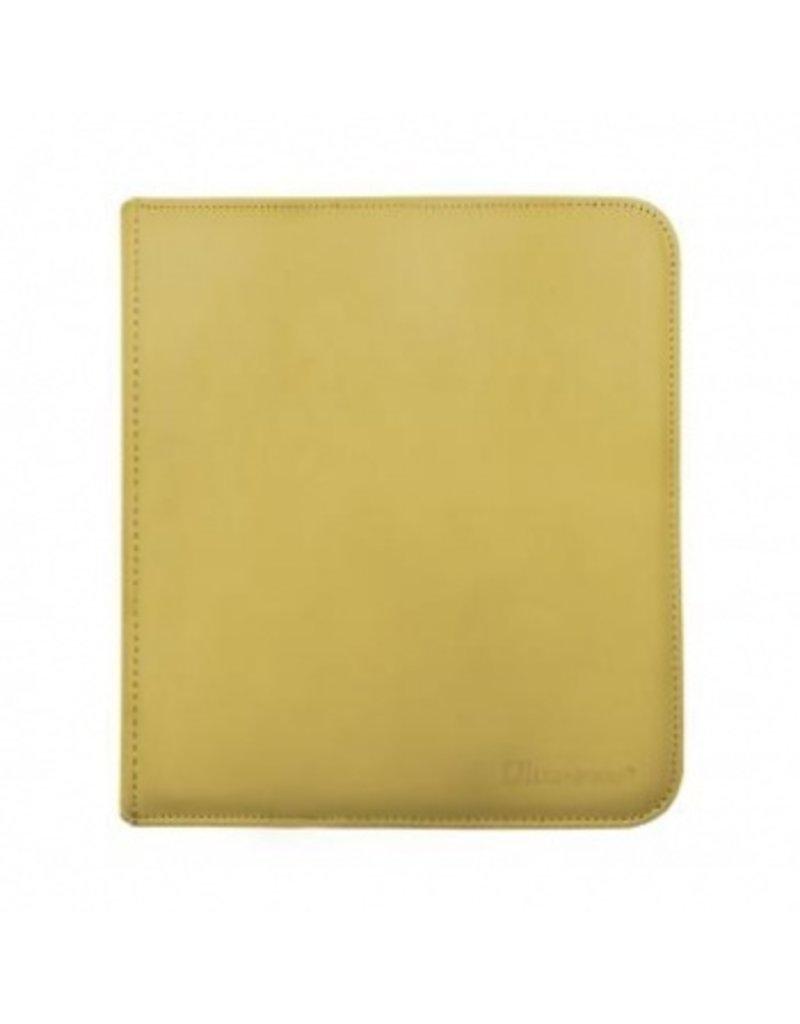 Ultra Pro 12-Pocket Zippered Pro-Binder - Yellow - Ultra Pro