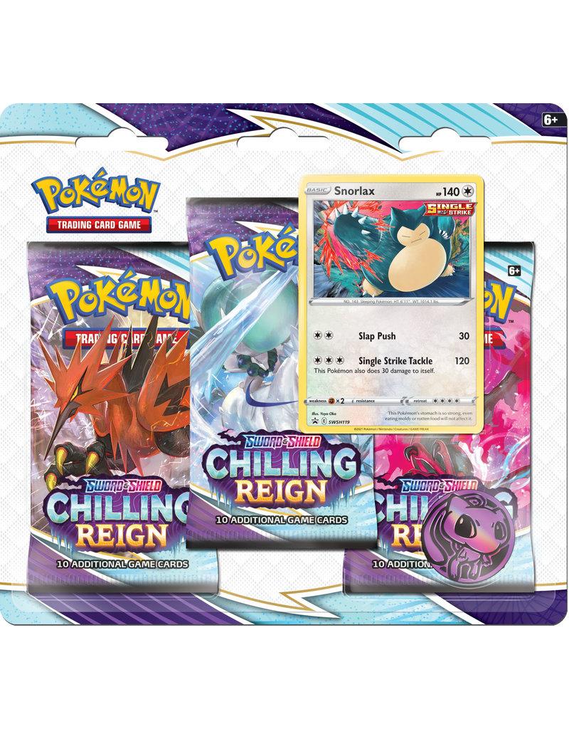 The Pokémon Company Pokemon Sword & Shield Chilling Reign 3-boosterblister Snorlax