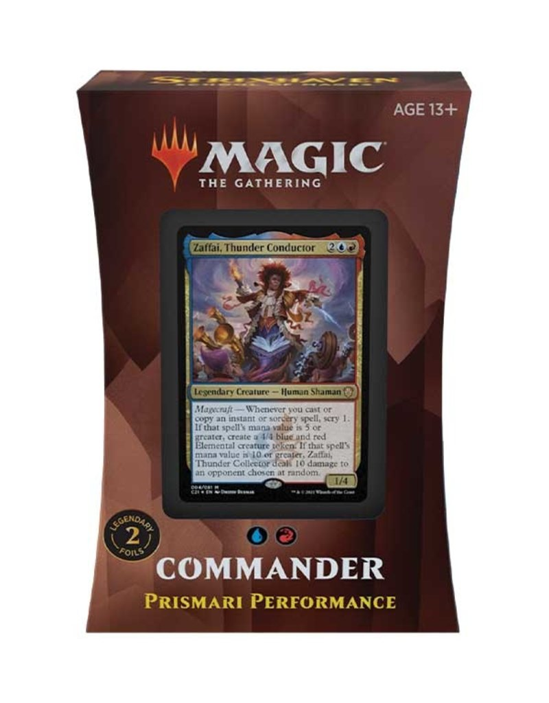 Magic The Gathering Commander Strixhaven: Prismari Performance Deck MTG