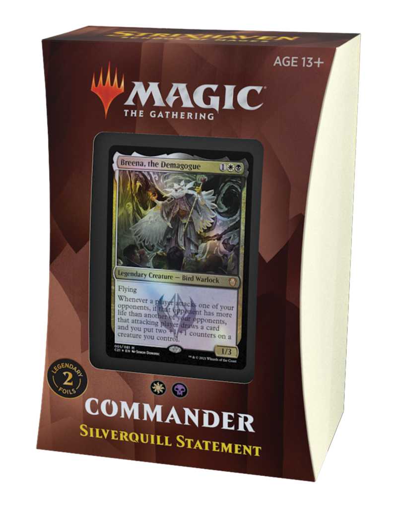 Magic The Gathering Commander Strixhaven: Silverquill Statement Deck MTG