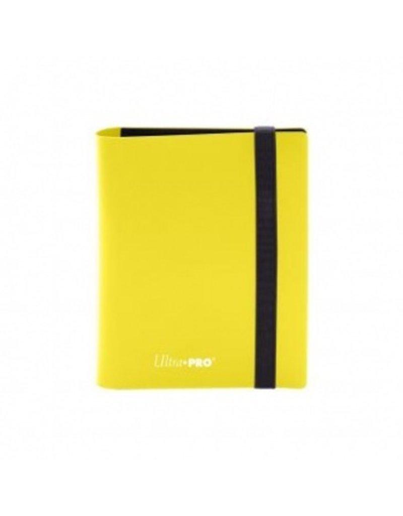 Ultra Pro 2-Pocket Pro Binder Eclipse - Lemon Yellow Ultra Pro