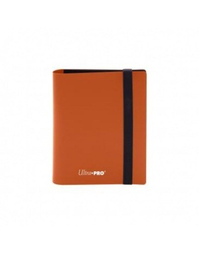 Ultra Pro 2-Pocket Pro Binder Eclipse - Pumpkin Orange Ultra Pro