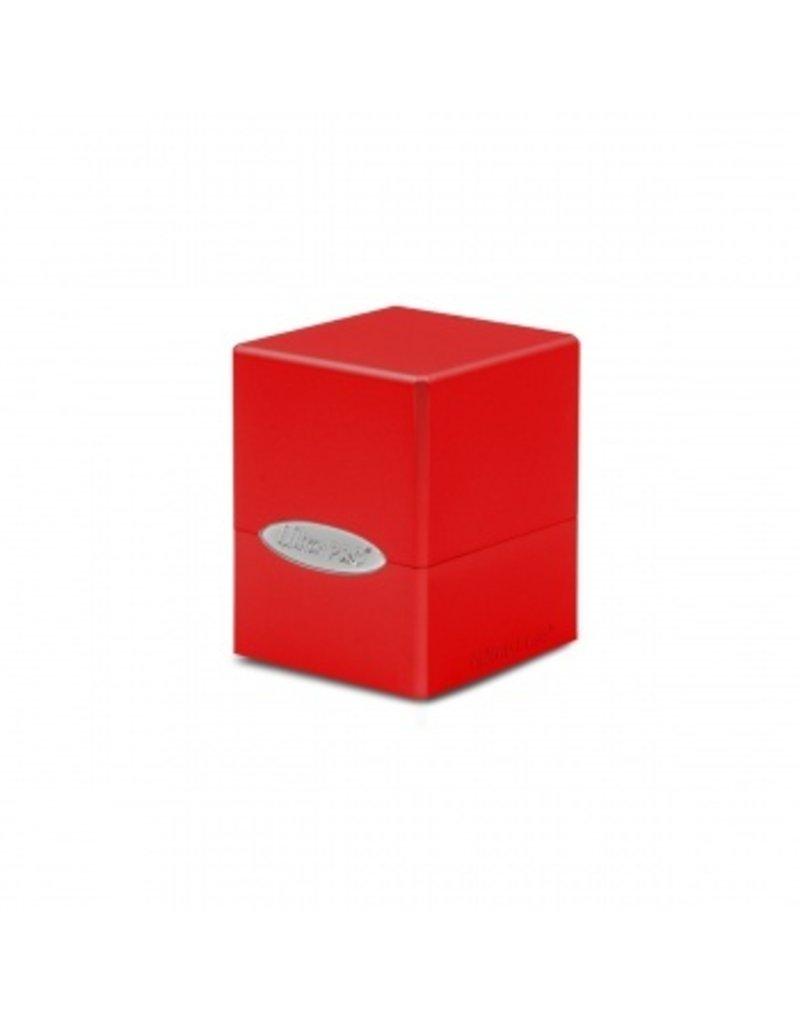 Ultra Pro Deck Box - Satin Cube - Apple Red Ultra Pro