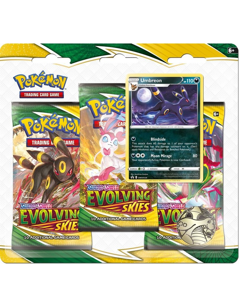 The Pokémon Company Pokemon Sword & Shield Evolving Skies 3-Booster Blister Umbreon