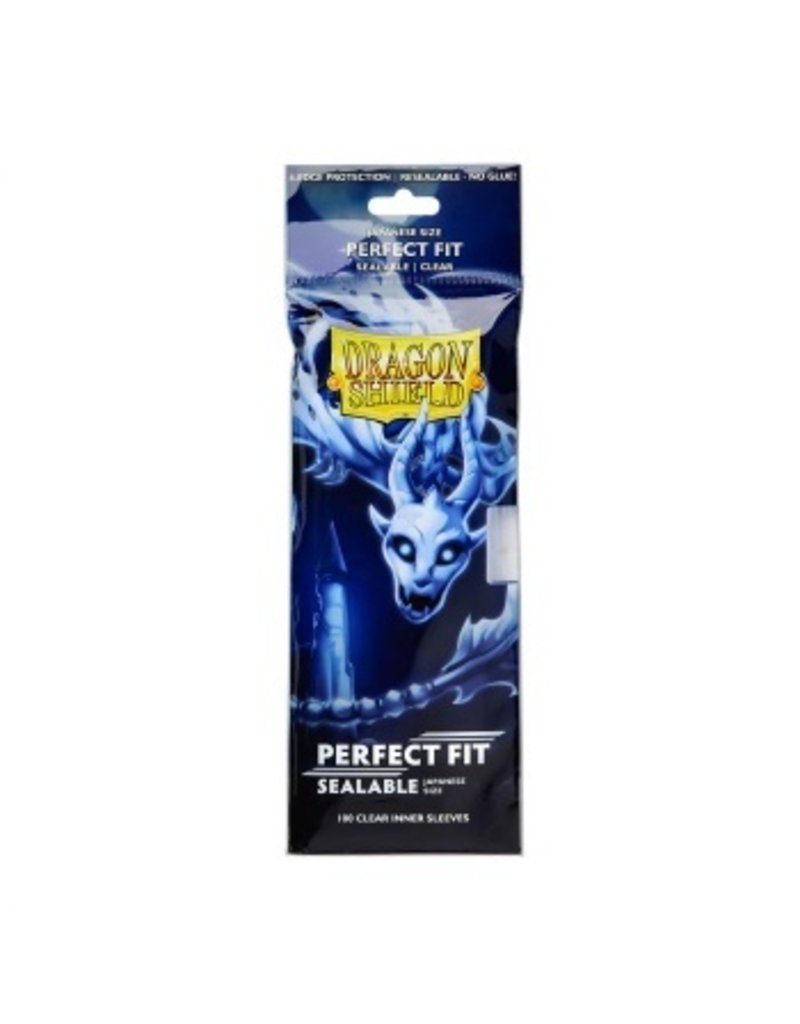 Dragon Shield Dragon Shield Japanese Size Perfect Fit Sealable Inner Sleeves - Clear (100 Sleeves)
