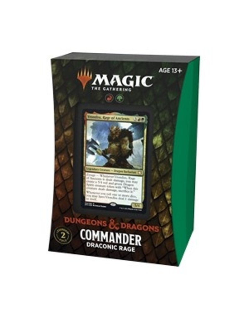 Magic The Gathering Adventures in the Forgotten Realms Commander Deck - Draconic Rage MTG