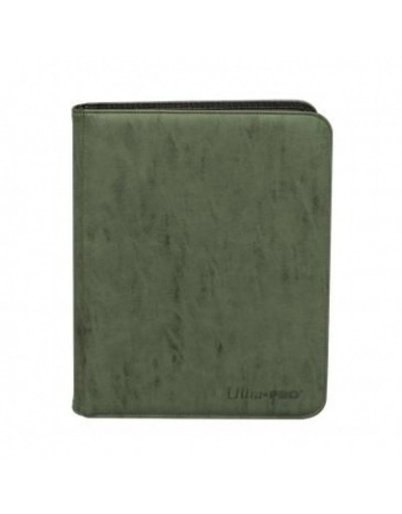 Ultra Pro 4-Pocket Zippered Premium Pro Binder Suede Collection - Emerald Ultra Pro