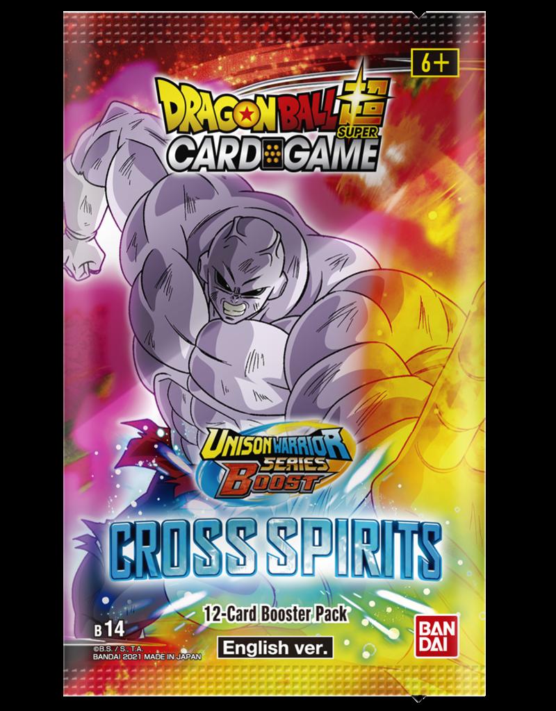 Dragon Ball Super Card Game Dragon Ball SCG S14 Unison Warrior Series Set 5 Cross Spirits Booster Pack