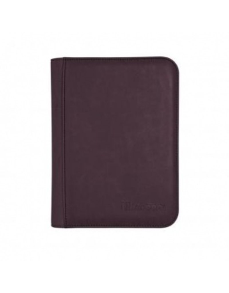 Ultra Pro 4-Pocket Zippered Premium Pro Binder Suede Collection - Amethyst Ultra Pro