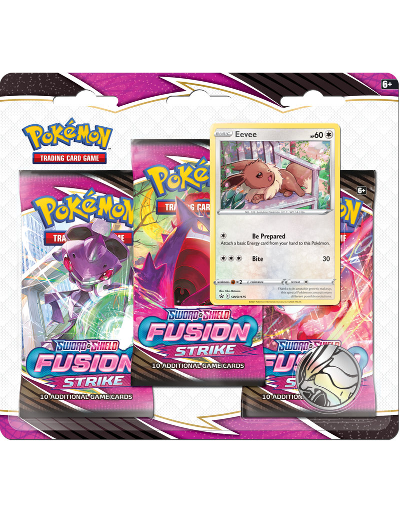 The Pokémon Company Pokemon Sword & Shield Fusion Strike 3-Booster Blister Eevee