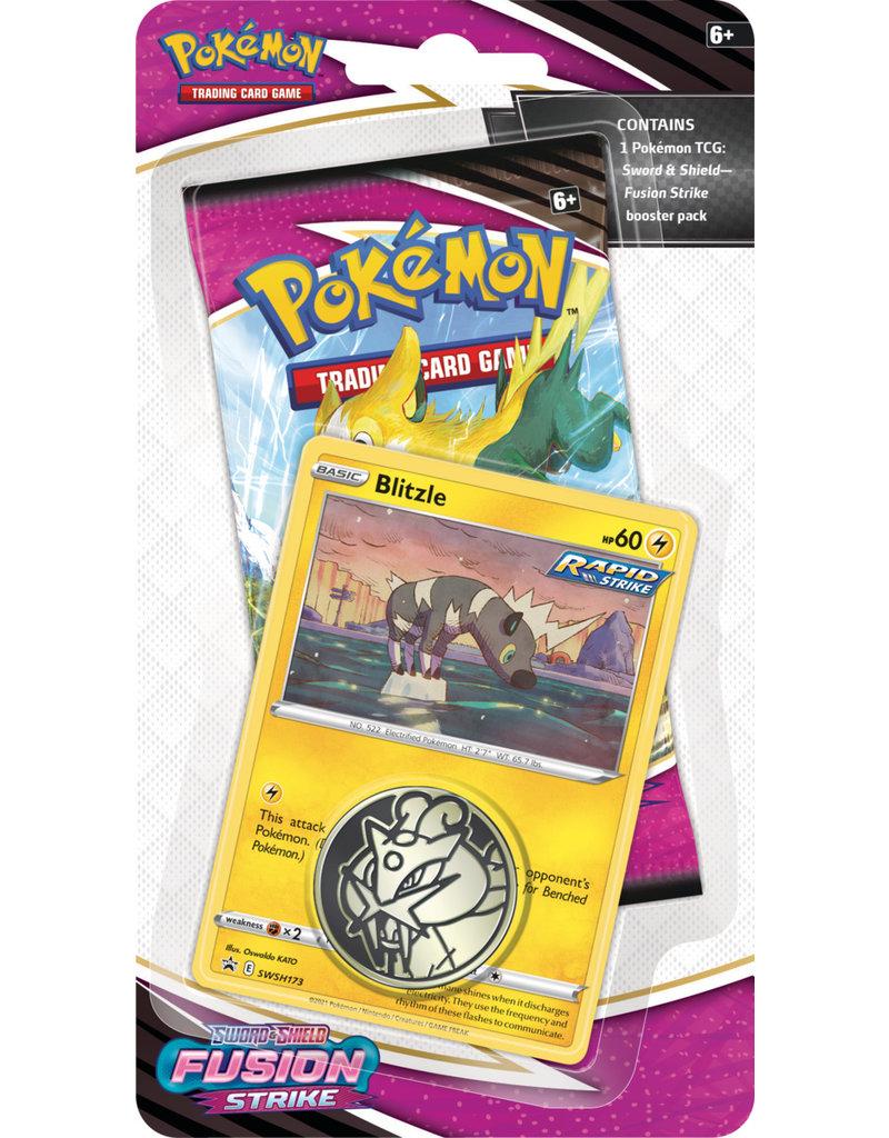 The Pokémon Company Pokemon Sword & Shield Fusion Strike Checklane Blister Blitzle