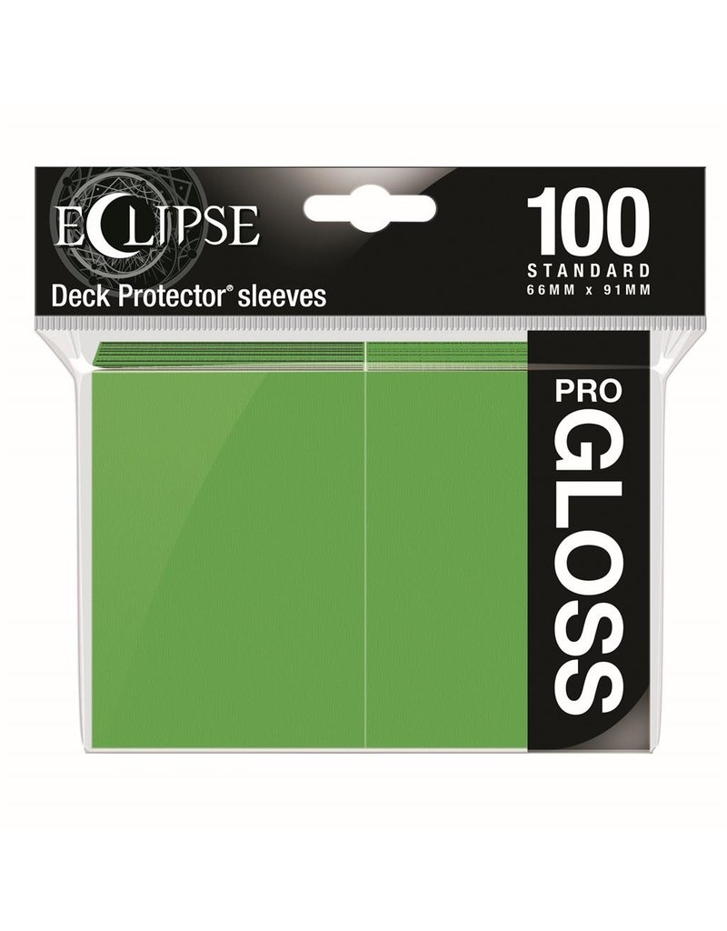 Ultra Pro Eclipse Standard Gloss Sleeves - Lime Green Ultra Pro