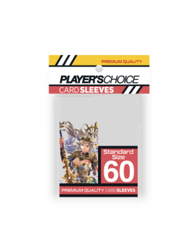 Player's Choice Premium Standard Sized Card Sleeves - Clear (60 Sleeves)