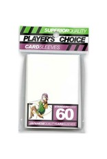 Player's Choice Premium Standard Sized Card Sleeves - White (60 Sleeves)