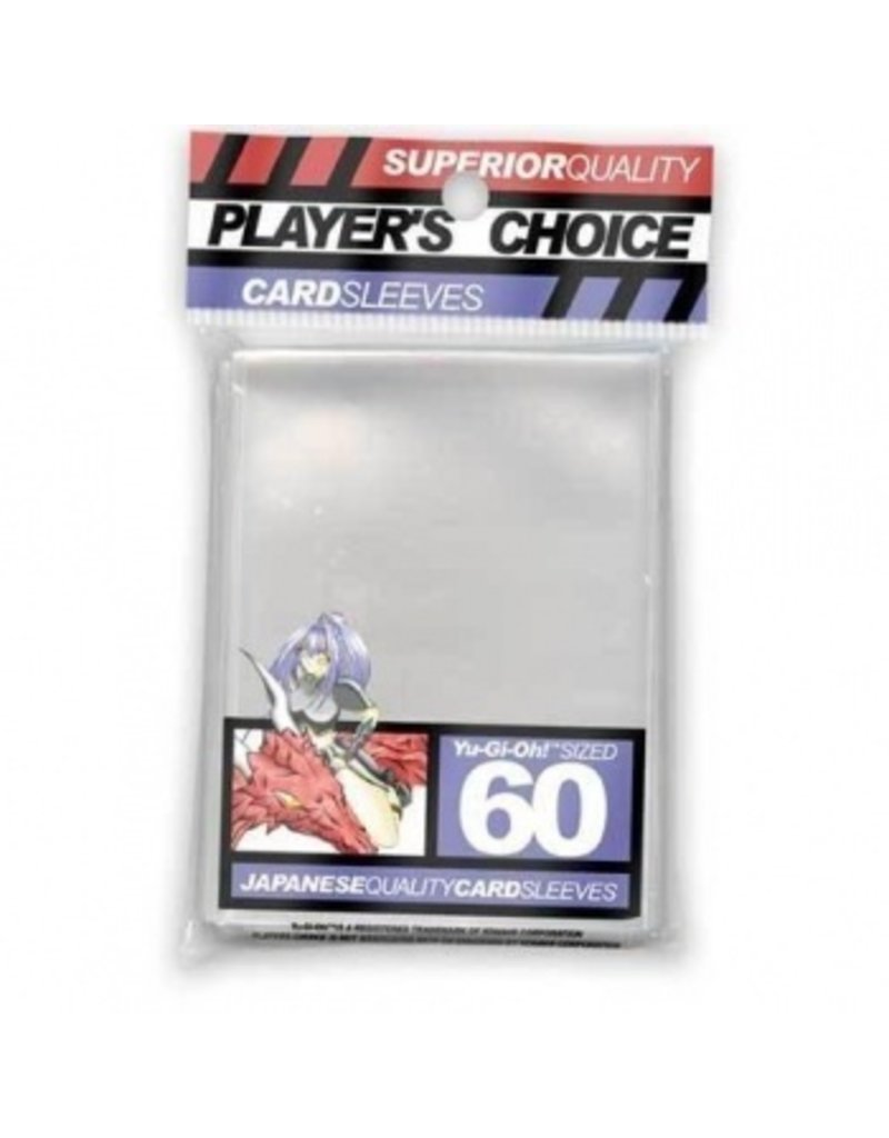 Player's Choice Premium Yu-Gi-Oh! Sized Card Sleeves - Clear (60 Sleeves)