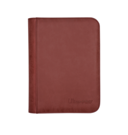 Ultra Pro 4-Pocket Zippered Premium Pro Binder Suede Collection - Ruby Ultra Pro