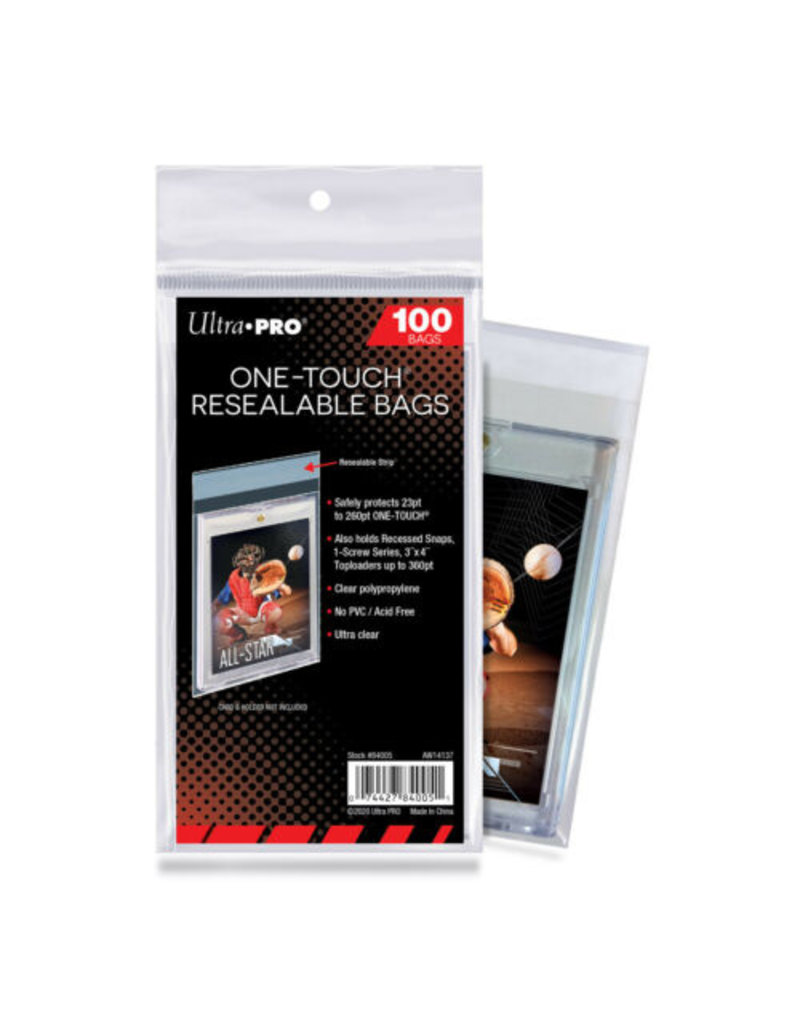 Ultra Pro One Touch Resealable Bags (100 Bags) Ultra Pro