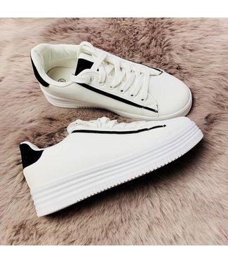 Basic White Black - Sneakers