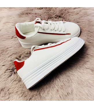 Basic White Red - Sneakers