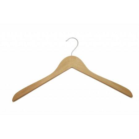 50 x kledinghangers naturel 43 cm, vlak