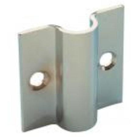 Wandsteun voor draadrooster 10mm, chroom