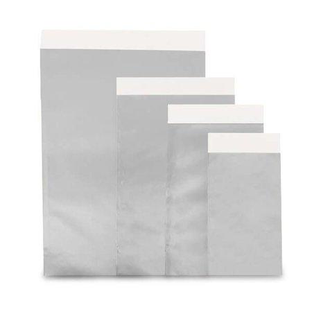 1000 x Geschenkzakjes 7 x 8 cm., All over zilver glanzend