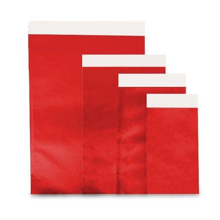1000 x Geschenkzakjes 7 x 8 cm., All over rood glanzend