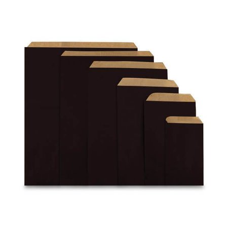 1000 x Geschenkzakjes 10 x 16 cm., All over zwart