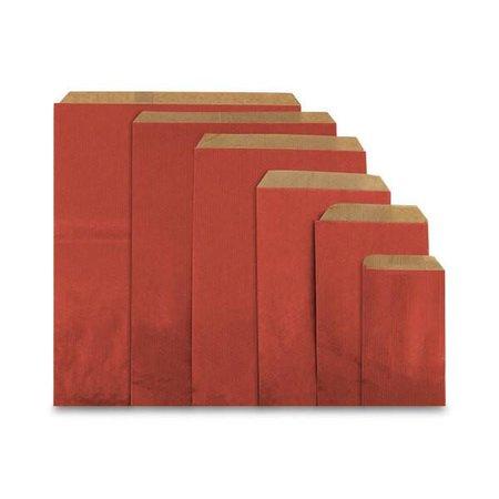 1000 x Geschenkzakjes 10 x 16 cm., All over bordeaux rood
