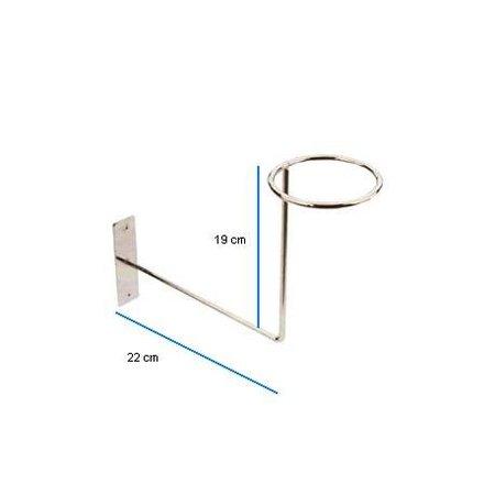 Hoedenbeugel - Chroom - 10 cm - rond