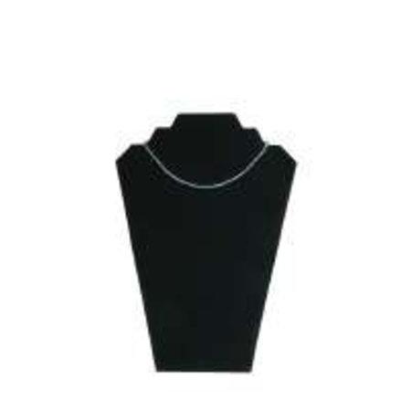 Collierhals zwart fluweel B22 H32cm