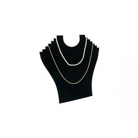 Collierhals zwart fluweel B23 H24cm