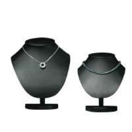 Collierhals zwart fluweel 18 cm