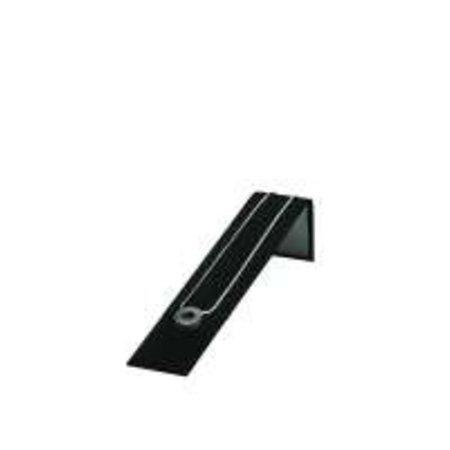 Collierpresentatie zwart fluweel 20,5 x 4 cm